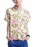 (ベストマート)BestMart アロハシャツ 花柄 シャツ 半袖 メンズ プリント リゾート 607520