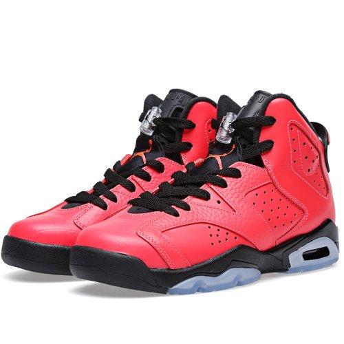 NikeAir Jordan 6 Retro BG infrared/ black 384664 623 size 3.5y