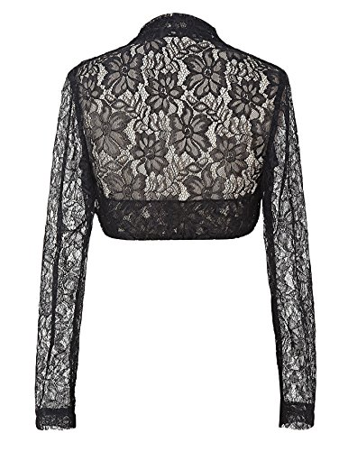 Womens Black Lace Bolero Jacket