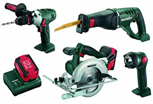 Metabo COMBO 4.2 LiPower 4-PC Cordless 18V Combo Kit