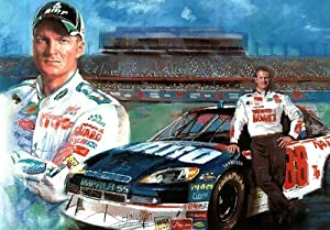 (11x17) Dale Earnhardt Jr. (With Car) Sports Poster Print