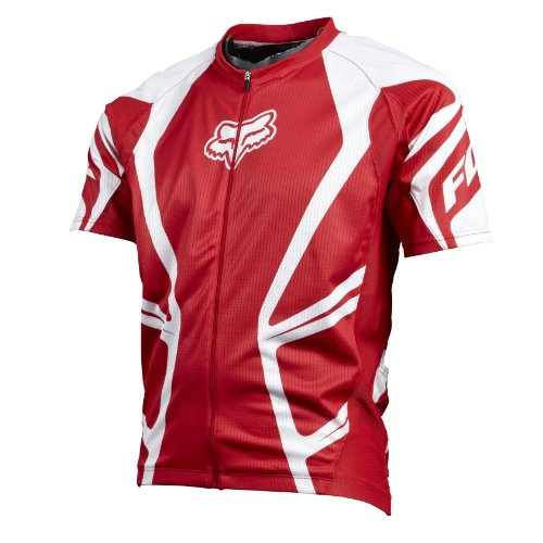 Fox Clothing Race Short Sleeve Mountain Bike Jersey Medium Red