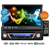 CREATONE autoradio de 1DIN V-7160DG à la navigation, Bluetooth, Lecteur DVD et USB / SD-fonction