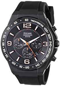 Pulsar Men's PT3403 Analog Display Japanese Quartz Black Watch