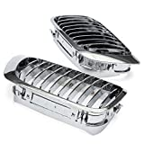 Cooldiscovery 1Pair Silver Front Kidney Grill Grille For BMW E46 M3 325Ci 330Ci 328 3 SERIES 2D 1999-2001