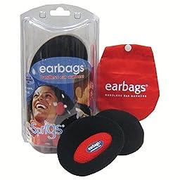 Earbags Bandless Fleece Ear Warmers,Medium,Brown