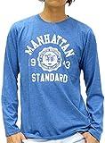 (マルカワジーンズパワージーンズバリュー) Marukawa JEANS POWER JEANS VALUE Tシャツ メンズ 長袖 ロンT カレッジプリント 8color M 柄6