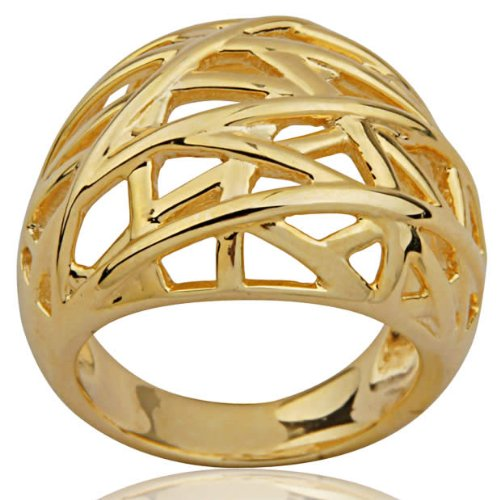 18k Gold Over Sterling Silver Solar Streaks Ring
