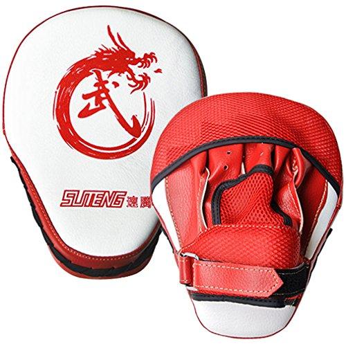 Punching Mitts, Boxing Pads, ADiPROD (1 Pair) Gym Training Focus Target Punch Glove MMA Karate Combat Thai Kick (Red)
