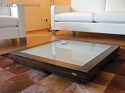DESIGN COUCHTISCH Tisch V-350 Makassar Milchglas Carl Svensson NEU