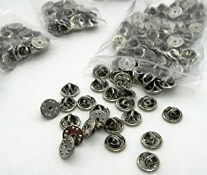 APEX Nickel Metal Uniform Pin Badge Insignia Clutch Backs - Quantity: 10 Pack