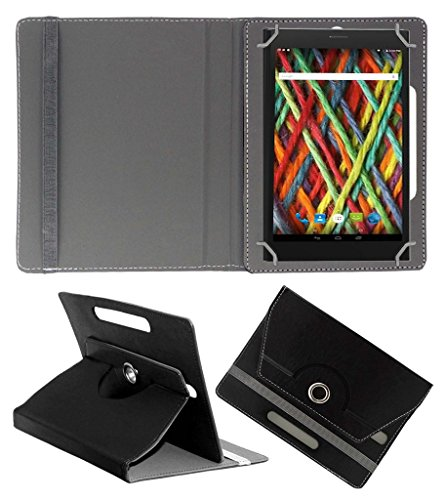 Acm Rotating 360° Leather Flip Case For Micromax Fantabulet F666 Cover Stand Black  available at amazon for Rs.149