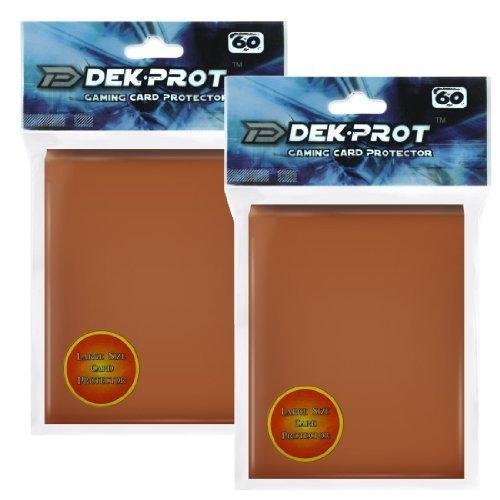 DEK PROT Magic+Pokemon Size Gaming Card Protectors-120 Sleeves- Mocha Brown