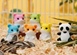 Iwako Original Gu Gu Chinese Panda and Hamsters Japanese Erasers (6pcs) - NOTE: Panda and Hamsters Colours May vary from Image!
