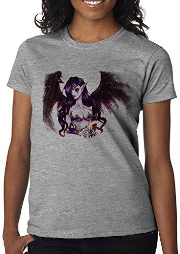 League of Legends Morgana Fallen Angel Women' s Shirt Custom Made T-shirt (XL)