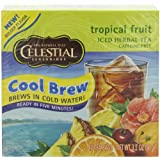 Celestial Seasonings Tropical Fruit Cool Brew Iced Herbal Tea, 40 Count 3.2 Ounce Boxes (Pack of 6)