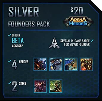 Silver Founders Pack: Arena of Heroes [Game Connect]