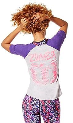 Zumba Womens Get Hyped Up Baseball Tee