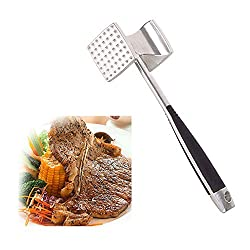 New Applied Kitchen Two Sided Beef Loose Meat Processor Aluminum Hammer Steak Tools Drop Shipping Wholesale