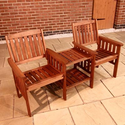 BillyOh Love Seat Tete a Tete Wooden Companion Seat Garden Bench