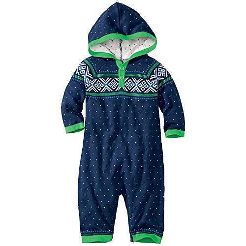 Hanna Andersson Baby All In One Hoodie Romper, Size 60 (6-9 Months), Navy back-930833