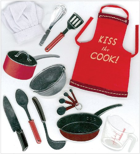 EK Success Jolee's Boutique Cooking Dimensional Stickers