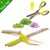 6 in 1 Smart Cutter Clever Cutter Peeler Bottle Opener Scaler Slicer 2-in-1 food Chopper Herb Scissor Scissor Cleaner Bundle