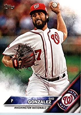 2016 Topps #47 Gio Gonzalez Washington Nationals Baseball Card-MINT
