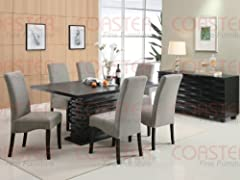 Coaster Home Furnishings 102061 Contemporary Dining Table, Black