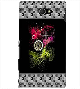 PrintDhaba Abstract Design D-5726 Back Case Cover for SONY XPERIA M2 (Multi-Coloured)