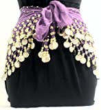 Purple Belly Dance Skirt With Gold Coins (Great Gift Idea)