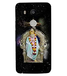 ColourCraft Lord Sai Baba Design Back Case Cover for LG GOOGLE NEXUS 5X