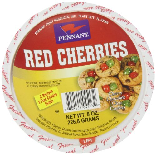 Pennant Red Cherries, 8 Ounce (Pennant Candied Fruit compare prices)