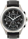 Timex Men's T2M467 T Series Chronograph Black Leather Strap Watch