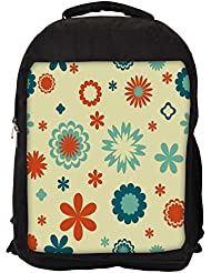 """Snoogg Cream Pattern Flowers Casual Laptop Backpak Fits All 15 - 15.6"""" Inch Laptops"""