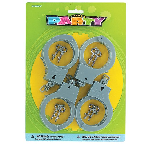 Plastic Toy Handcuffs, 2 sets