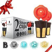 Brewooze 5127904 Reusable Carafe Pod Filter Reusable Cup for Keurig 2.0 K500, K400, K300, K200, Pack of 2, Gold