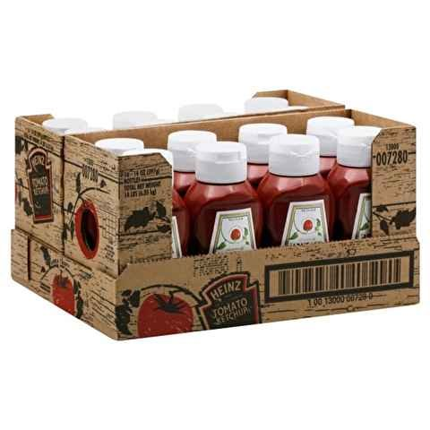 Heinz Usa Ketchup Bottle Usd Red Plastic front-827810