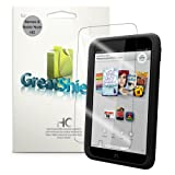 "GreatShield Ultra Smooth Clear Screen Protector Film for Barnes & Noble NOOK HD 7"" Tablet (3 Pack)"