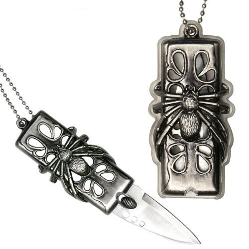 Fantasy Spider Necklace Knife