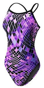 TYR SPORT Women's Disco Inferno Diamondfit Swimsuit (Purple, Size 26)