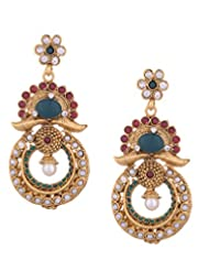 Young & Forever Statement Pearl & Stone Embellished Chandelier Earrings For Women By CrazeeMania