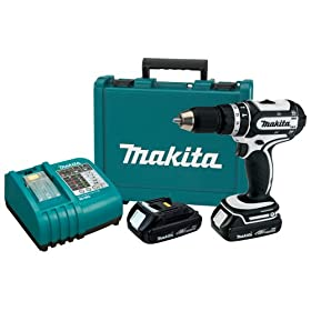 Makita BHP452HW 18-Volt Compact Lithium-Ion Cordless 1/2-Inch Hammer Driver-Drill Kit