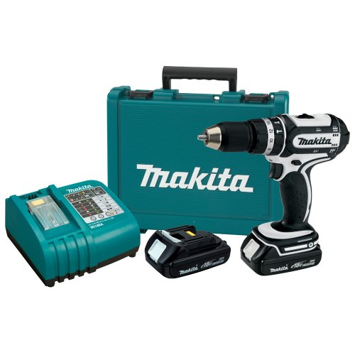 Makita BHP452HW 18-Volt 1/2-Inch Compact Cordless Percussion-Driver Drill