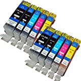 Compatible Canon MG5450 High Capacity Ink Cartridges - Black, Cyan, Magenta, Yellow (10-Pack)