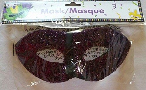 Purple Shimmery Mardi Gras Mask - 1