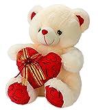 Dhoom-Soft-Toys-Teddy-Bear-Lace-Heart-Cream-40-CM