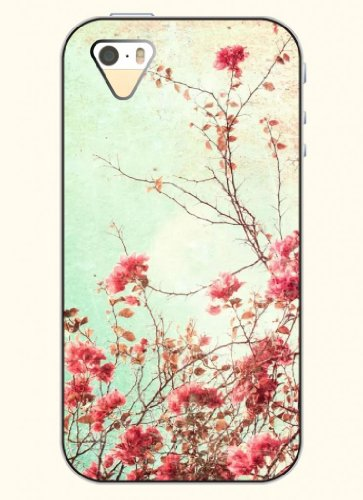 Oofit Phone Case Design With Prosperous Flowers For Apple Iphone 5 5S 5G