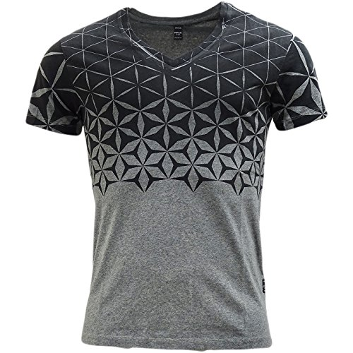 Replay -  T-shirt - Azteco - Classico  - Maniche corte  - Uomo Grey X-Large