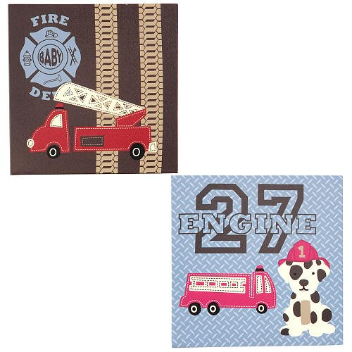 Engine 27 Canvas Wall Dcor - Set of 2